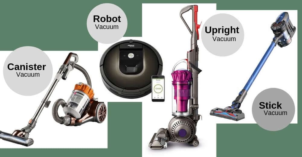 different types of vacuum cleaners