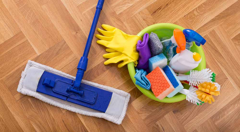 how to clean a home with mop