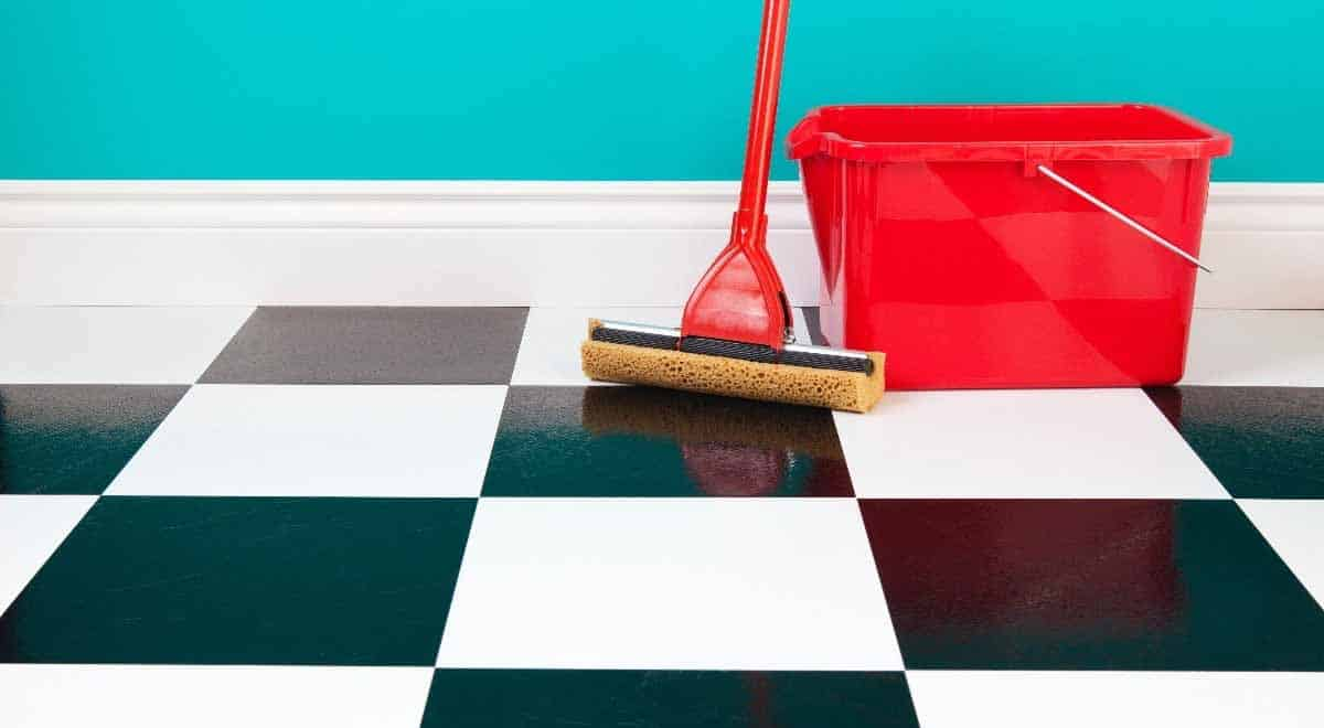 how to clean stains from linoleum